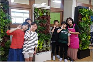 """썸네일 이미지 : """"우리 교실에 벽면 정원이 생겼어요"""""""